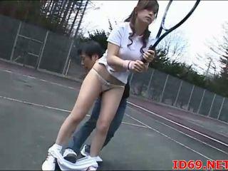 Japońskie av modelka tastes jej własny cipka