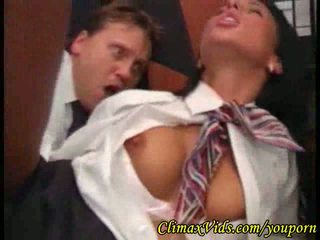 This pilot has fun with his sexy stewardess
