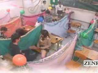 Subtitled japan schoolgirls klassrummet masturbation cafe