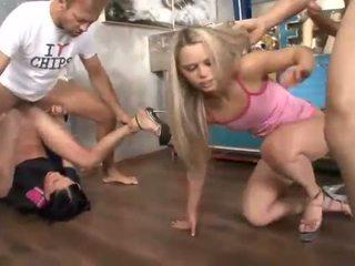 Petite sluts Aliz and Angela Devil anal groupsex