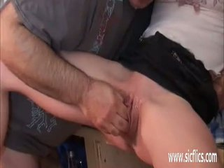 jeune, orgasme, béant
