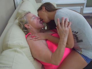 Old Chubby Granny Fucks Young Cute Girl, Porn 62