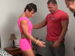 Muscle Female Sucking Two Cocks With Passion