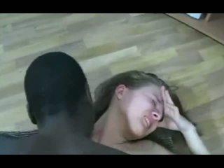 Melnas guy markas blondīne pusaudze