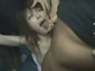 japanilainen, tyttö, groped