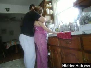 Fett pärchen having sex im die küche