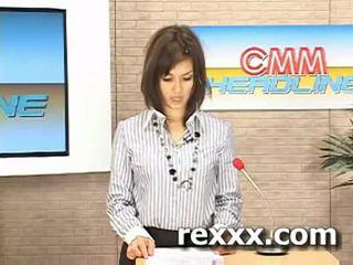 News reporter gets bukakke during her work (maria ozawa bu