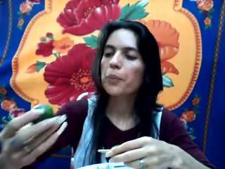 Lang natuurlijk nails: lang nails porno video- b9