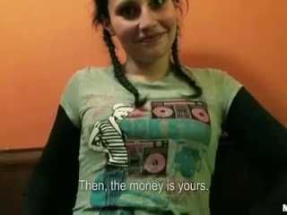Braided hair gal Petty Cat anal for cash