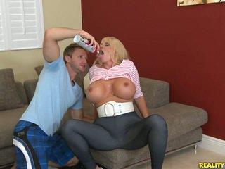 Blonde Mum Near Great Round Boobs