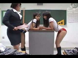 Busty Asian Schoolgirl Lesbian