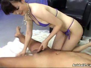Ai himeno loves 公鸡 挑逗 和 组 masturbation