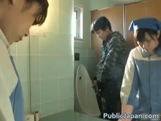 Asia toilet attendant cleans salah part6