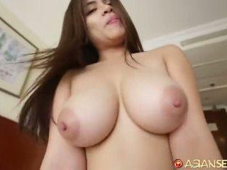 brunetka, reverse cowgirl, cock wysysających