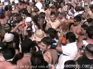 Insane spring odmor plaža zabava s vroče nag real dekleta