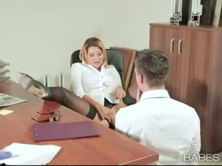 Kancelář kotě anna polina banged skutečný dobrý