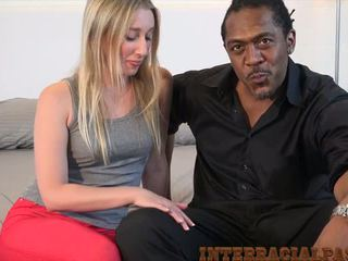 blowjobs, blondīnes, interracial