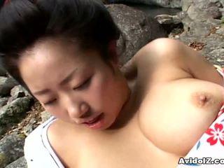 Sexy geisha kotone yamashita fodido difícil