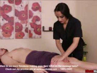 brünette, erotisch, massage