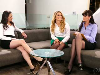 lesbians fresh, babes, hot threesomes nice