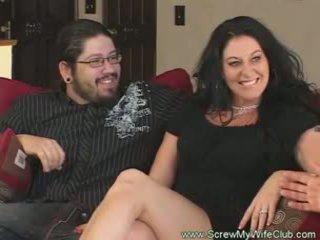 Slutty házas nő rides fasz pov