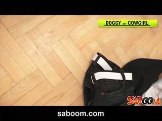 Abbie cat gets son cul rammed à saboom