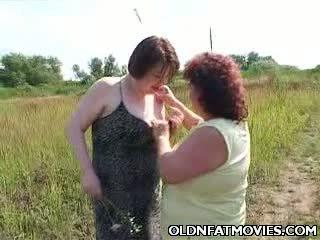 Fat Mature Lesbians Going At It