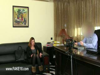 Fake agent enjoying brunette vagina