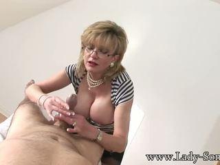 cougar, big tits, cumshot