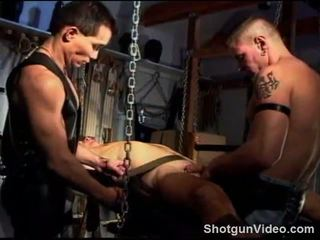 CBT warm up, 3 studs sling suck and fuck
