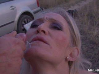 Blonde Mature Sucks & Fucks Outdoors, HD Porn c5