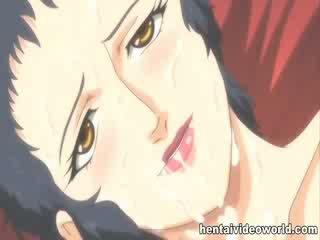 Old guy fucks big Boob manga girl in both holes