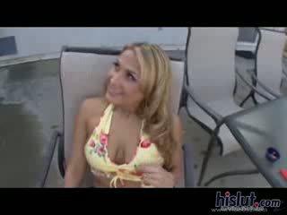 Alanah Rae Big Juggs Tee Facial semen shot Blonde Deepthroat