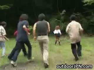 japonski, interracial, javni