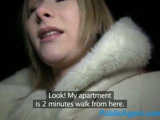 Publicagent красуня білявка fucks великий пеніс в готель кімната