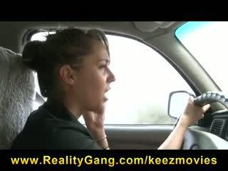 Busty Cheating Schoolgirl slut girlfriend is fucked hard outdoors