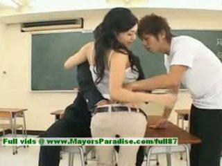 Sora aoi innocent เซ็กซี่ ญี่ปุ่น นักเรียน เป็น getting ระยำ
