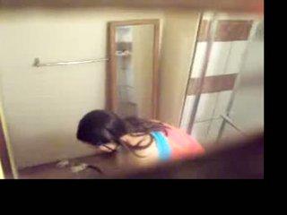 Filming sister uz the bath