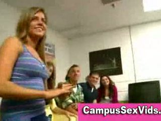 Blowjob at college reality party