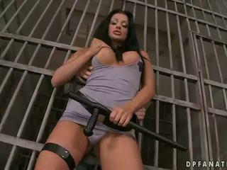 Aletta Ocean fucking two guys in tha jail