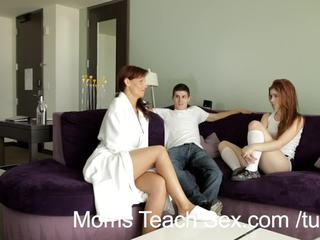 Moms Teach Sex - Redhead teen gets sex lesson from horny stepmommy