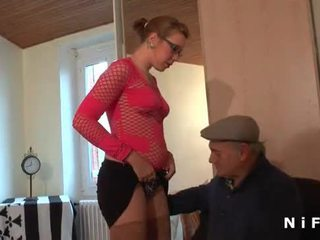 French rumaja bokong fucked while blowing an old man