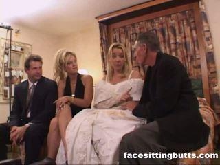 Bride-to-be got a ilkeä kasvohoito, vapaa facesitting butts porno video-
